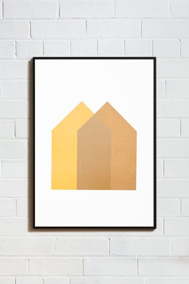 Lane+Screen+Print+Houses+Yellow-Gold+0