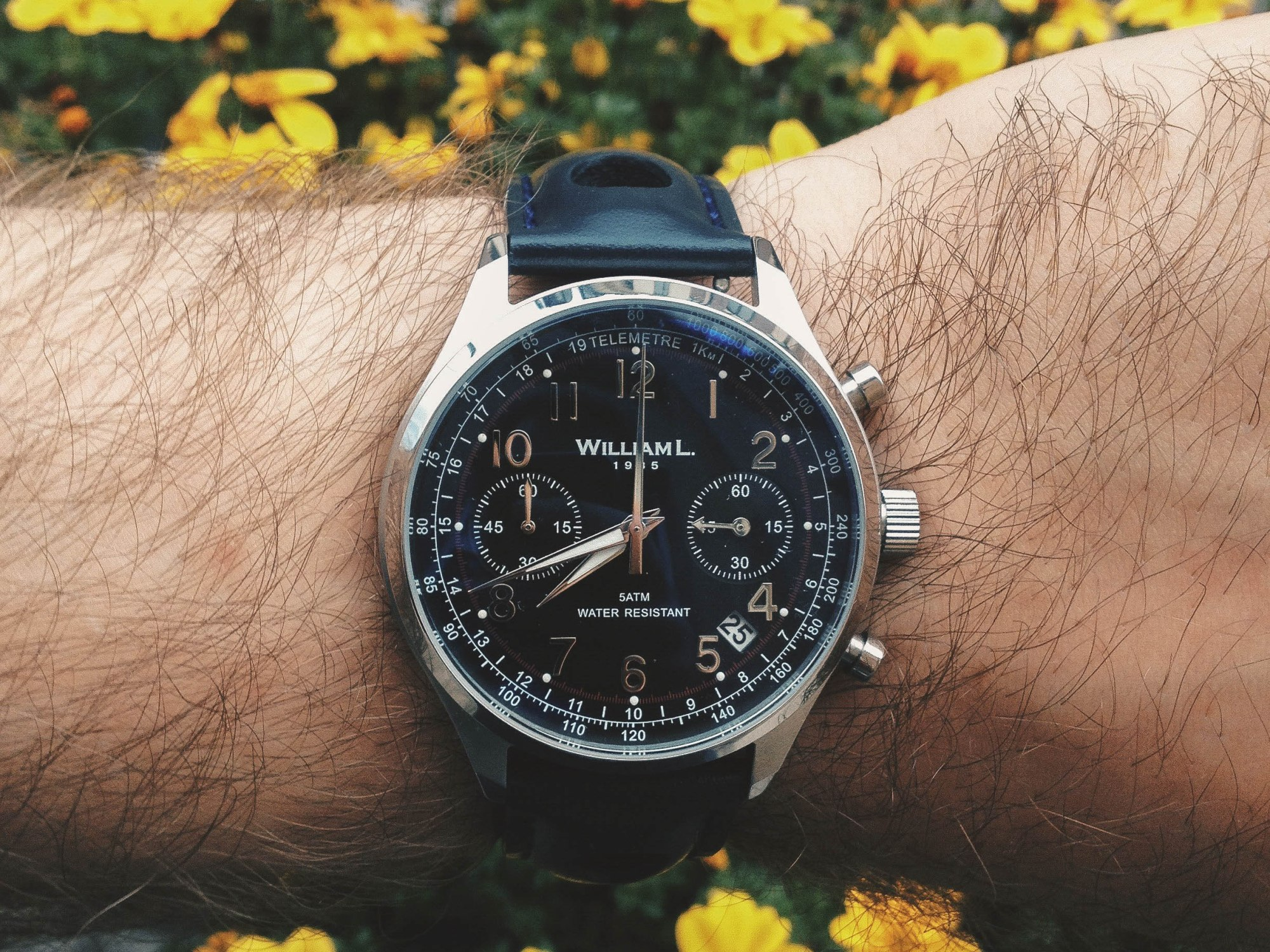 7b2c57655 William L. 1985 Vintage Style Chronograph (Review ) – KaminskyBlog